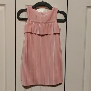 Cat & Jack Pink Pleated Velour Dress Size 18 mo